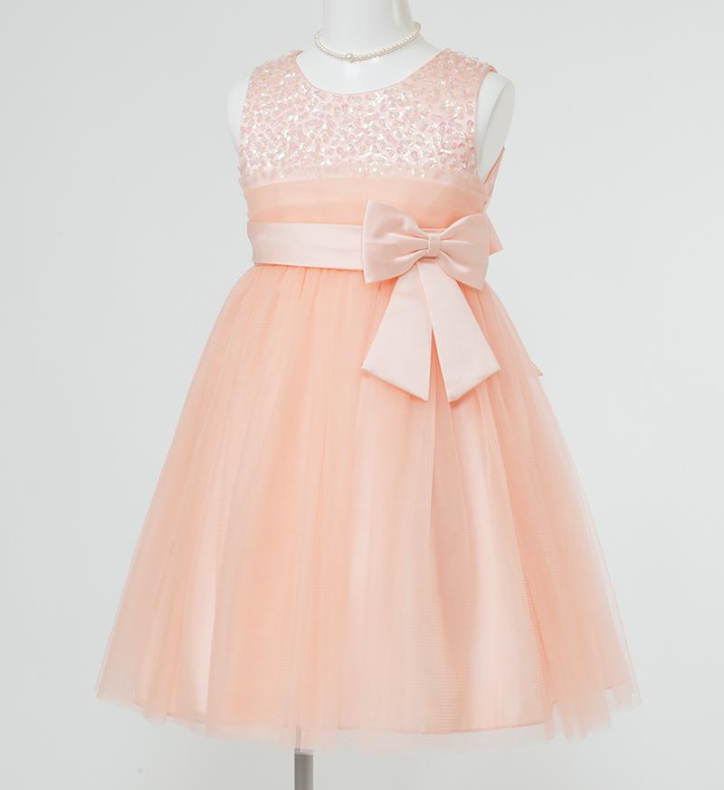 子供ドレス「エチュード」オレンジ P2004
