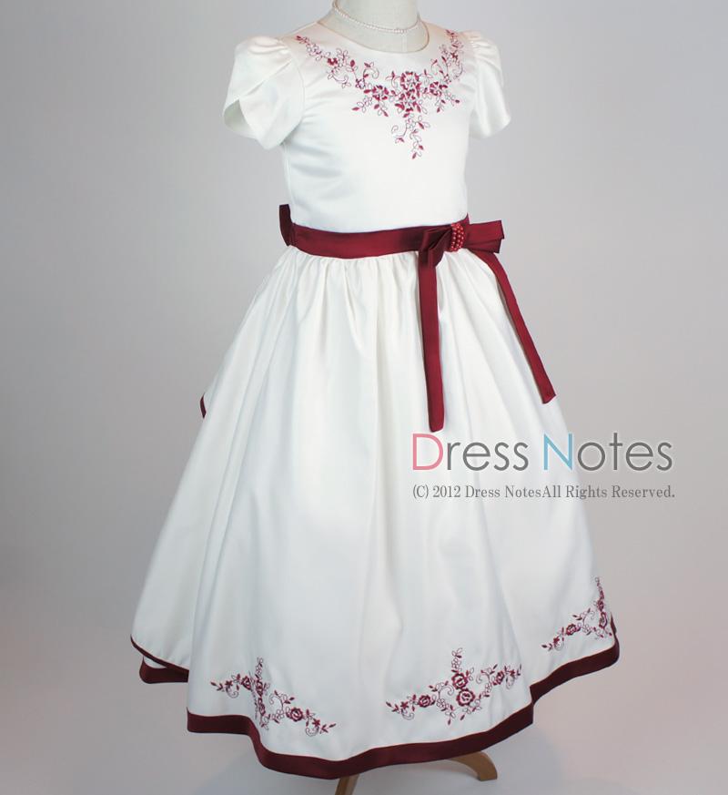 子供ドレス「ソナタ」ワイン D8024