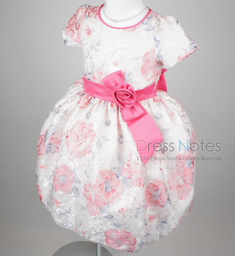 子供ドレス「ヘミング」ピンク H8007