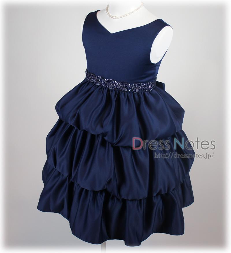 子供ドレス「クレッシェンド」ネイビー F8008