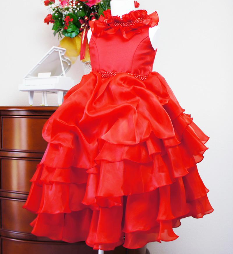 子供ドレス「アルドーレ」プロミネンス・レッド F8005