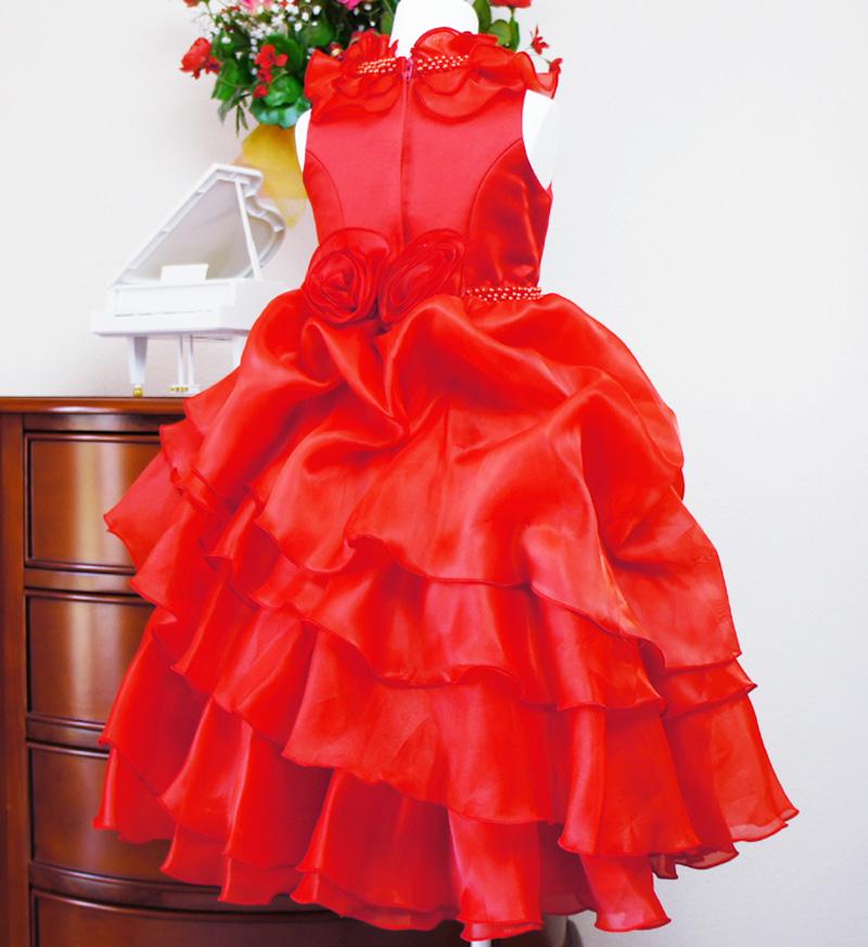 子供ドレス「アルドーレ」プロミネンス・レッド F8005-1