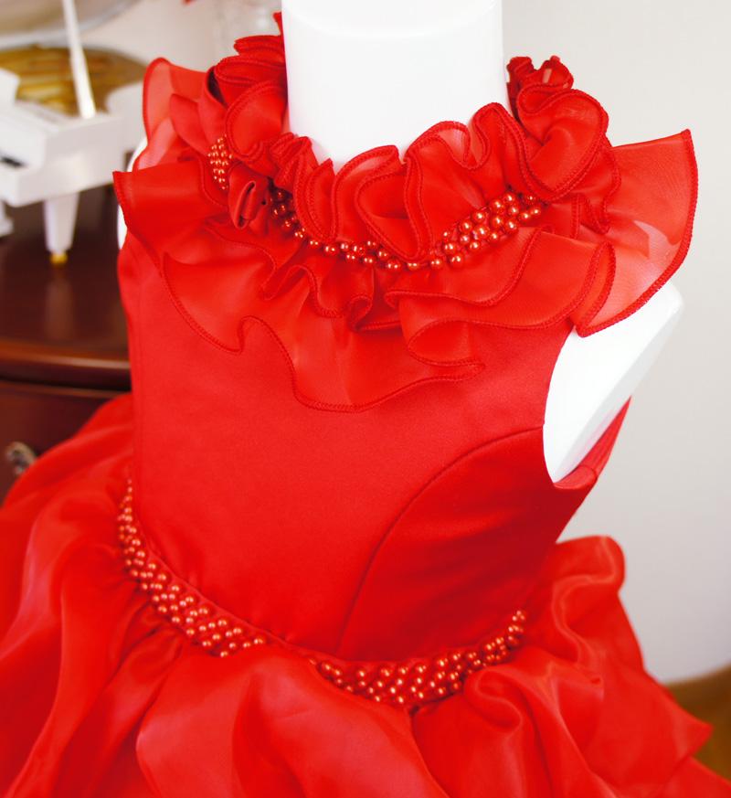 子供ドレス「アルドーレ」プロミネンス・レッド F8005-2
