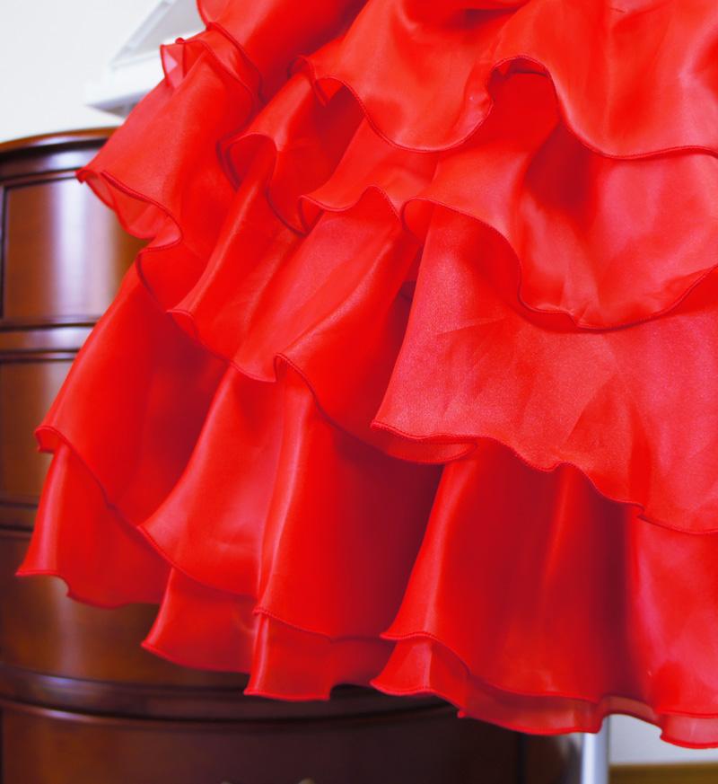 子供ドレス「アルドーレ」プロミネンス・レッド F8005-7