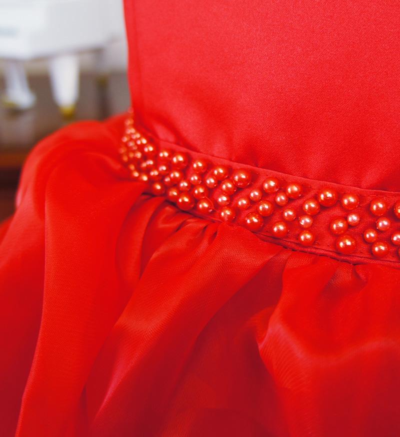 子供ドレス「アルドーレ」プロミネンス・レッド F8005-5