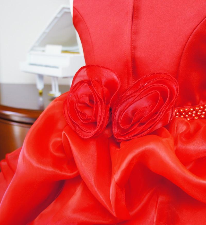 子供ドレス「アルドーレ」プロミネンス・レッド F8005-6