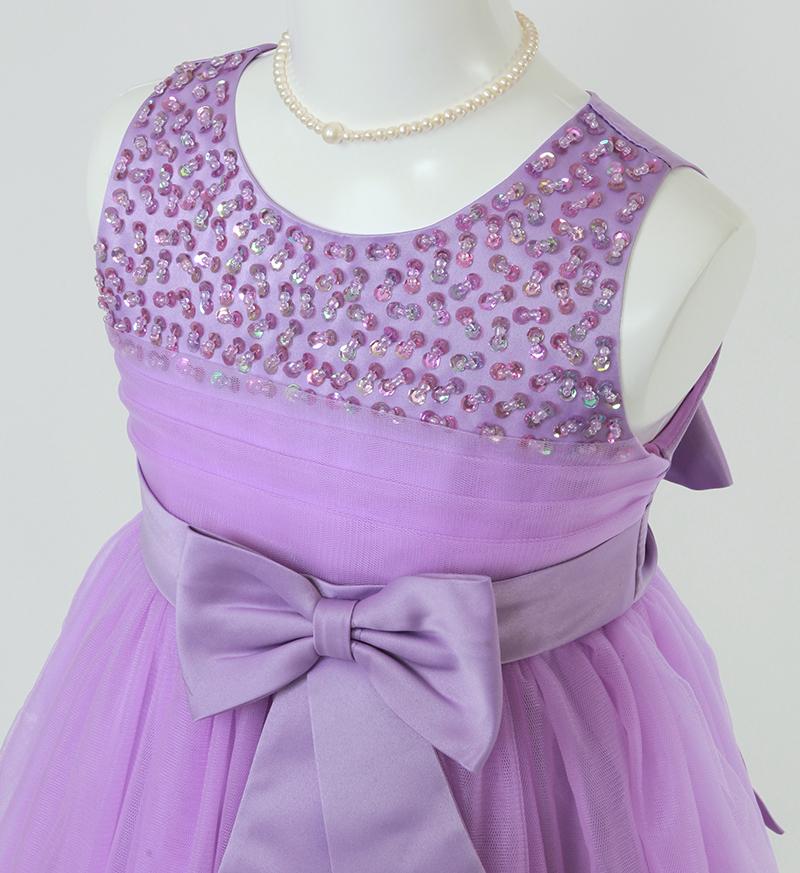 子供ドレス「エチュード」パープル P2003-1