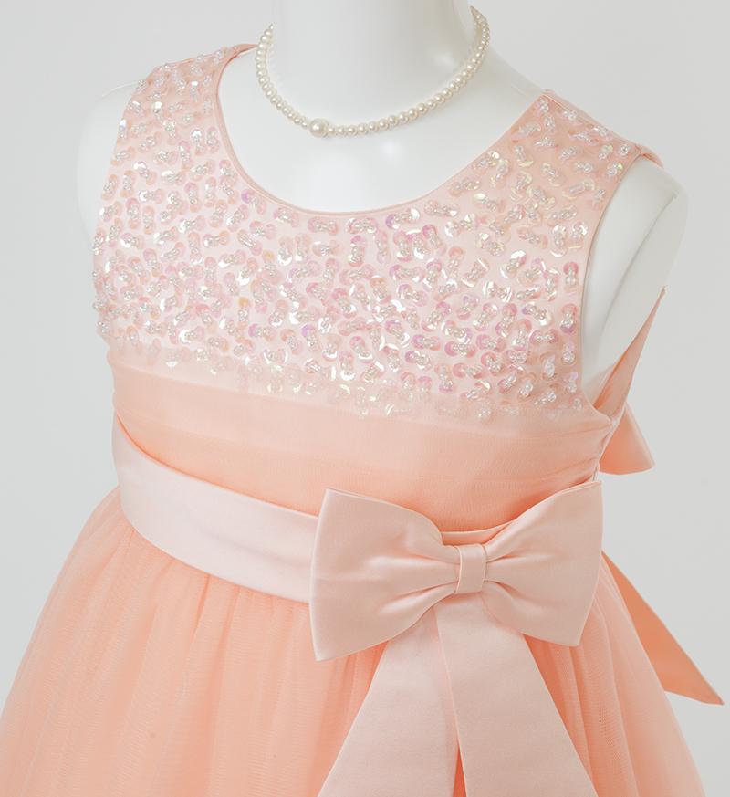 子供ドレス「エチュード」オレンジ P2004-1