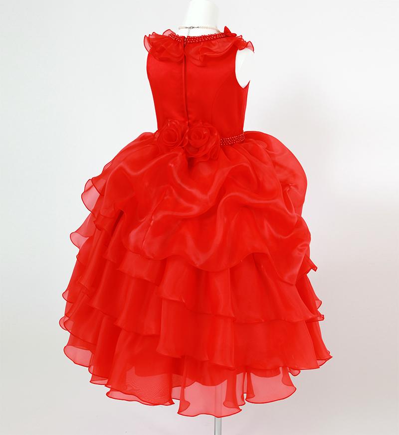DressNotesのピアノ演奏用ドレス「アルドーレ2」プロミネンスレッド-10