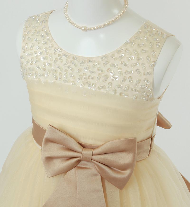 子供ドレス「エチュード」シャンパンゴールド P2005-1