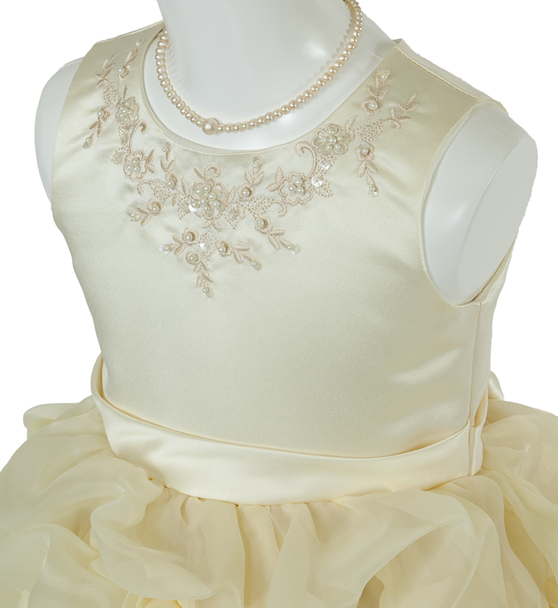子供ドレス「ヴィエリア」ライトイエロー-1