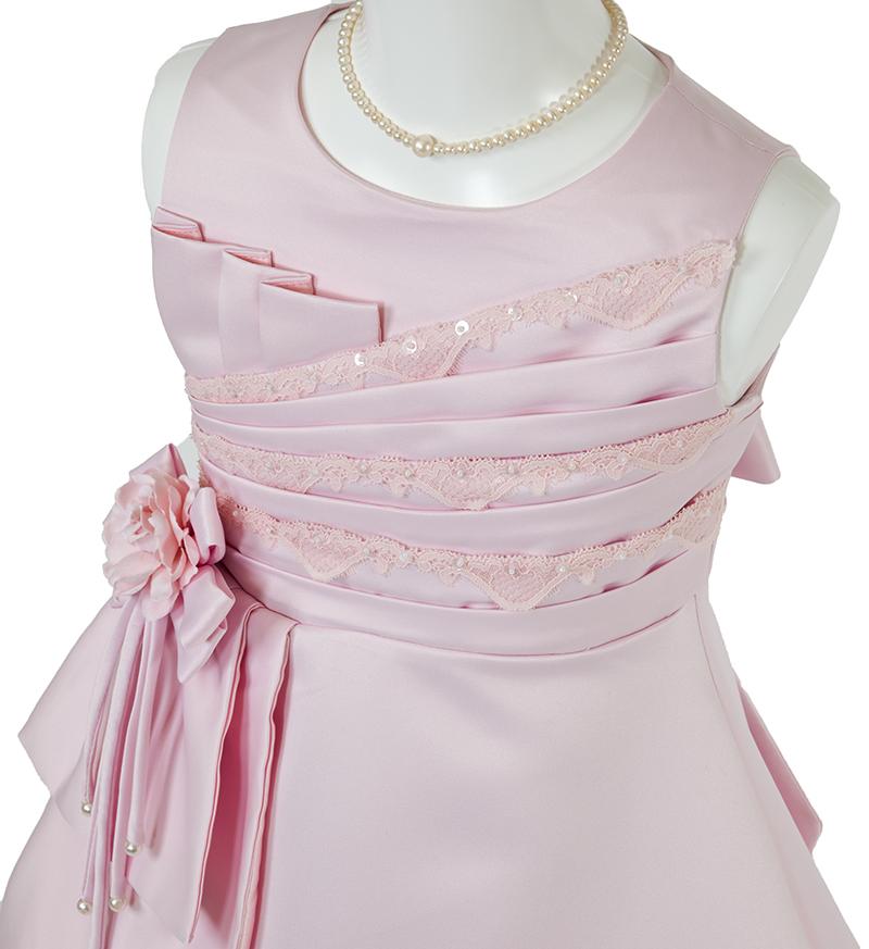 子供ドレス「ノクターン」ピンク-1