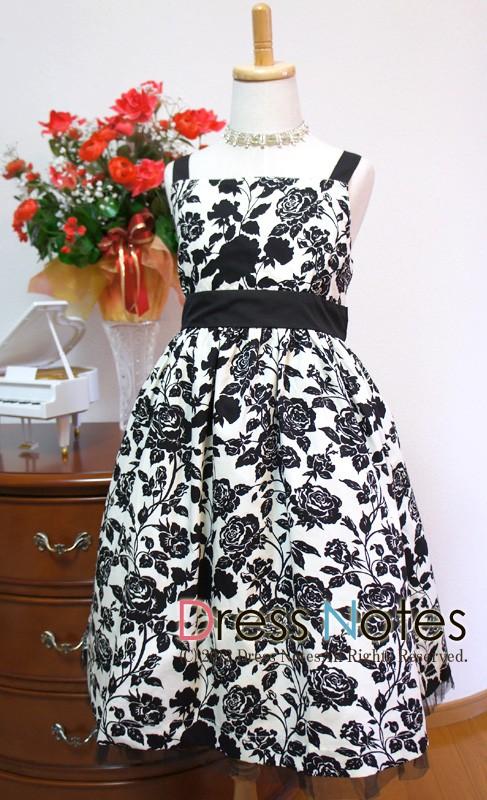 子供ドレス「ブラックバカラ」 A8007-1