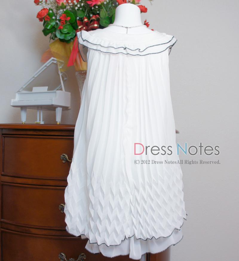 子供ドレス「サーシャ」ホワイト A8001-1