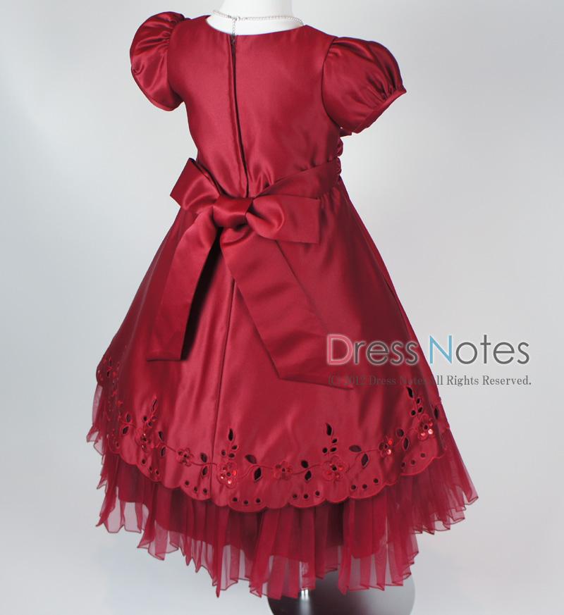 子供ドレス「マーズローズ」ワイン H8003-4