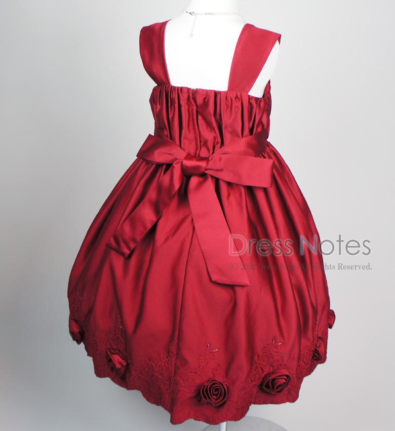子供ドレス「コーラス」ワインレッド H8011-4