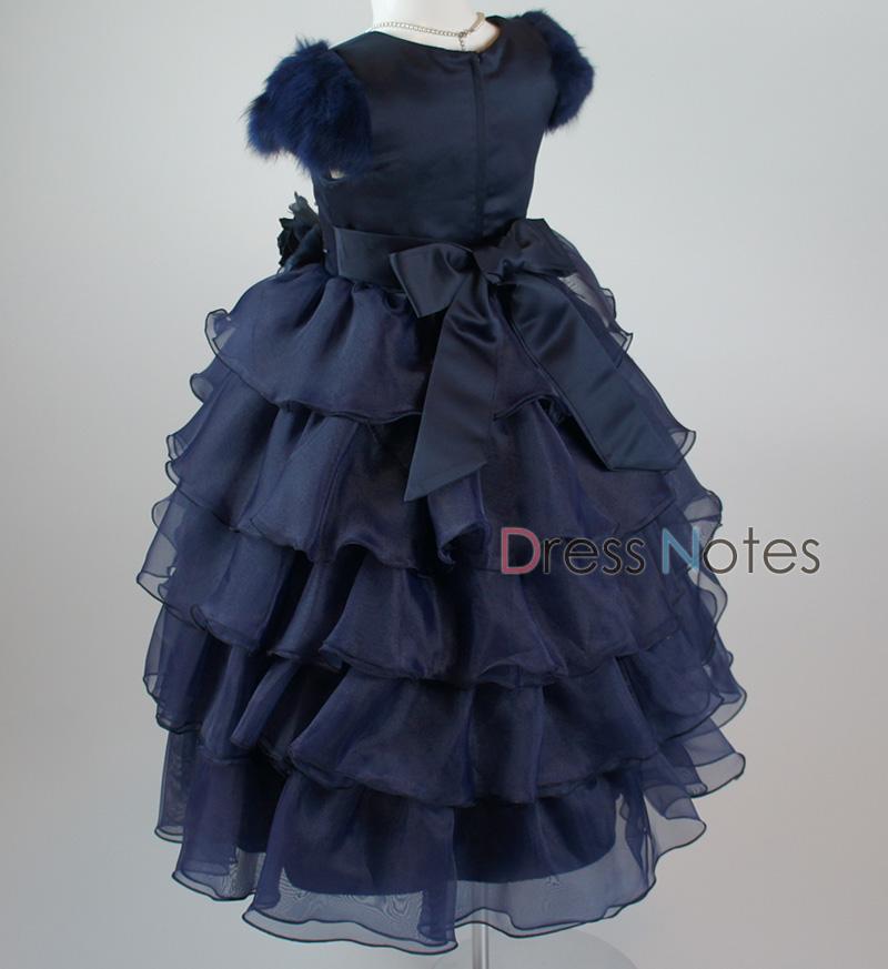 子供ドレス「カンタータ」 ネイビー D8005-4