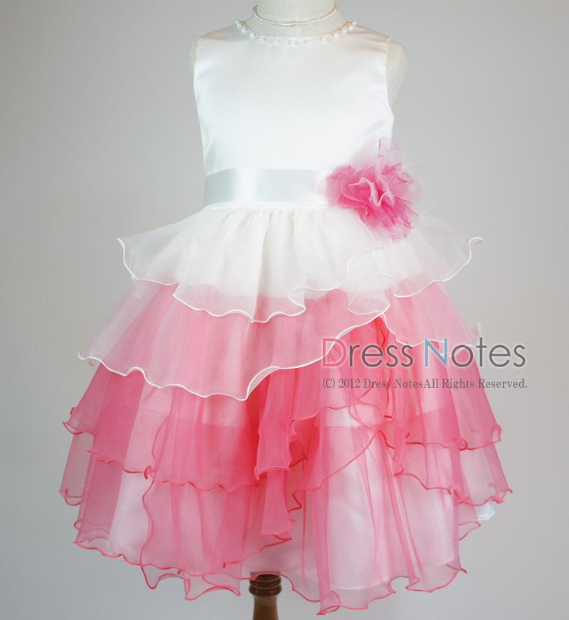 子供ドレス「アリア」ピンク D8006-2