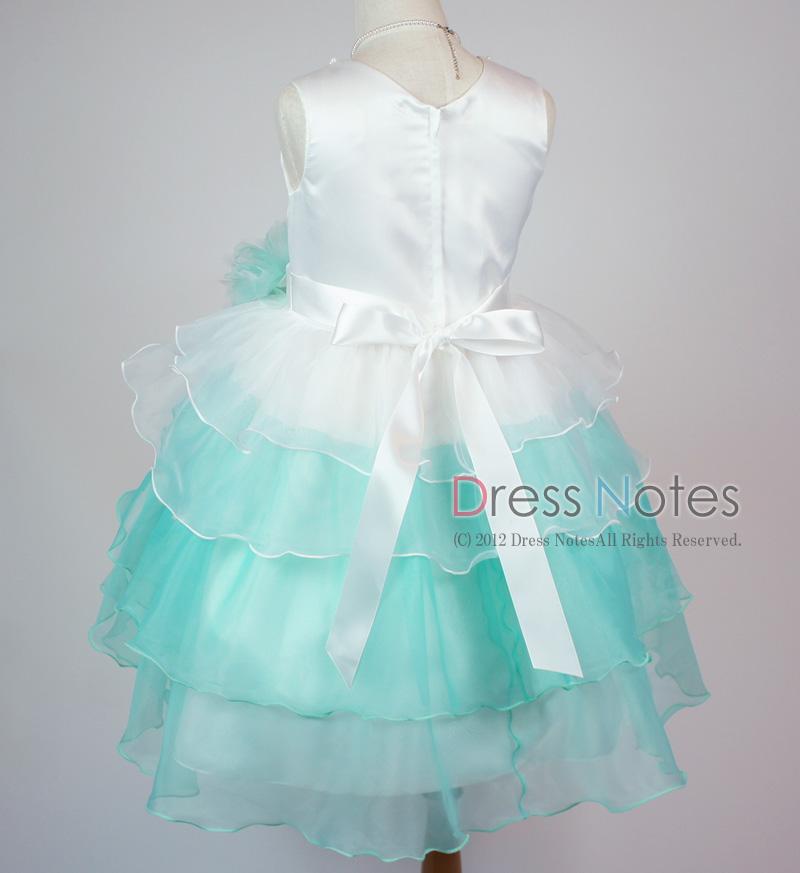 子供ドレス「アリア」ミントグリーン D8007-4