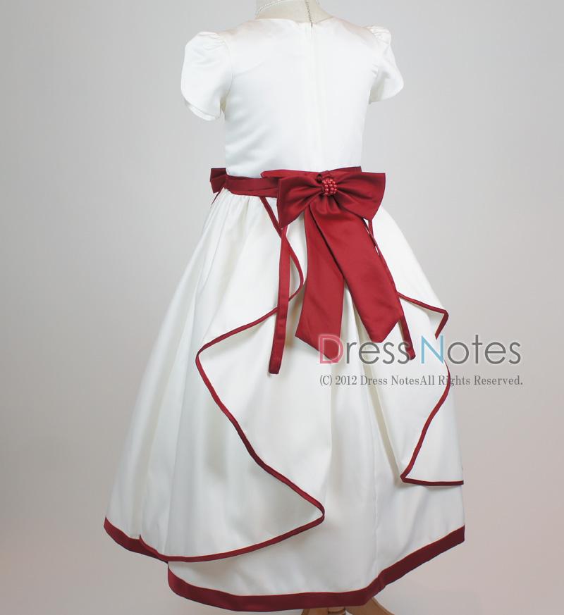 子供ドレス「ソナタ」ワイン D8024-7