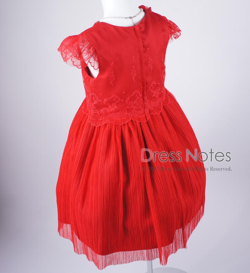 子供ドレス「パガテル」レッド D8022-4