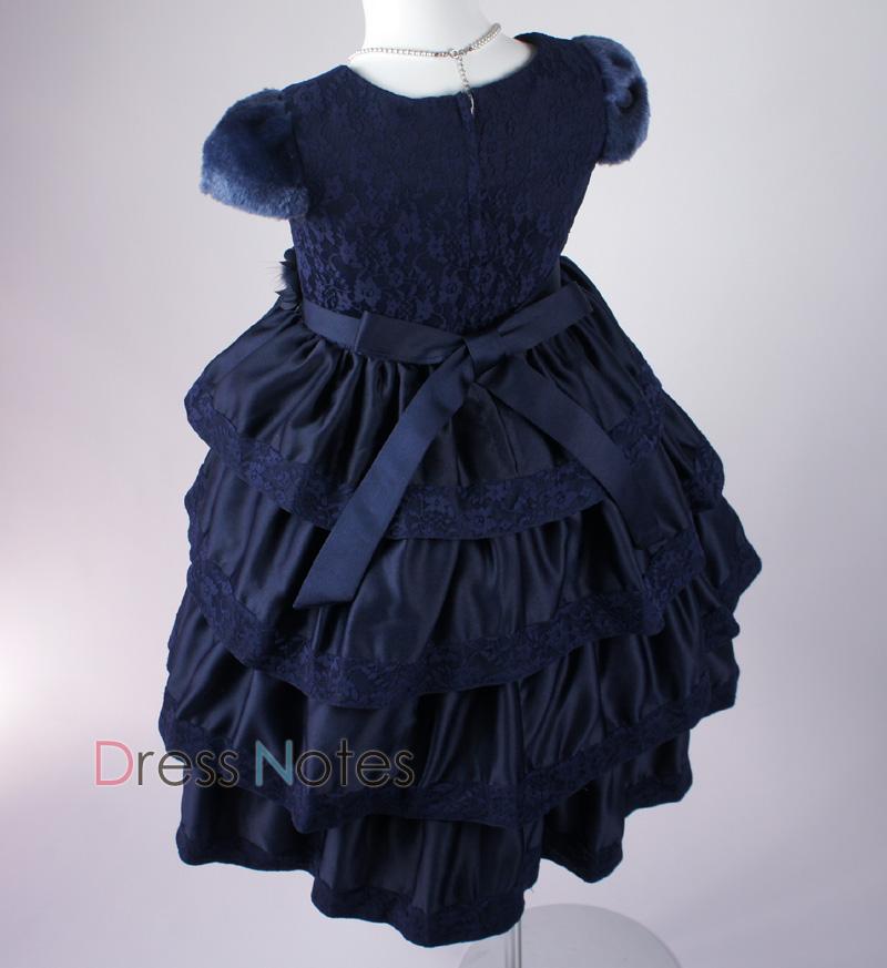 子供ドレス「バラード」ネイビー D8018-4