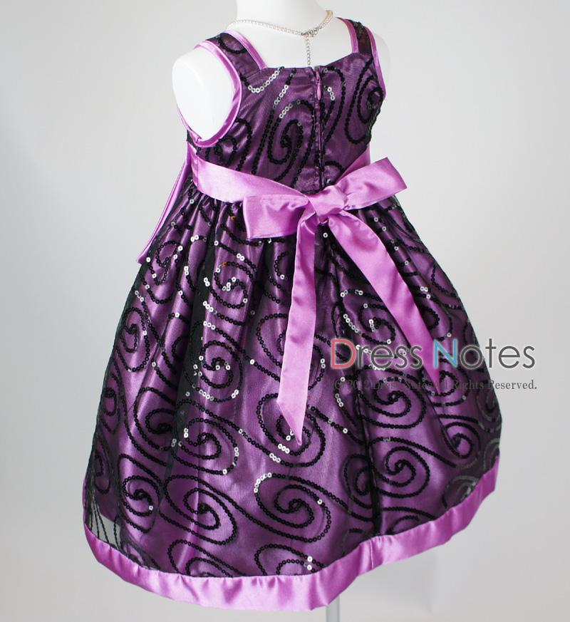 子供ドレス「オーロラ」パープル I8004-4