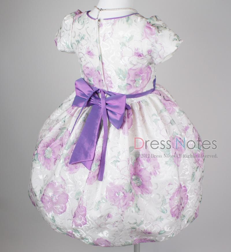 子供ドレス「ヘミング」パープル H8006-4