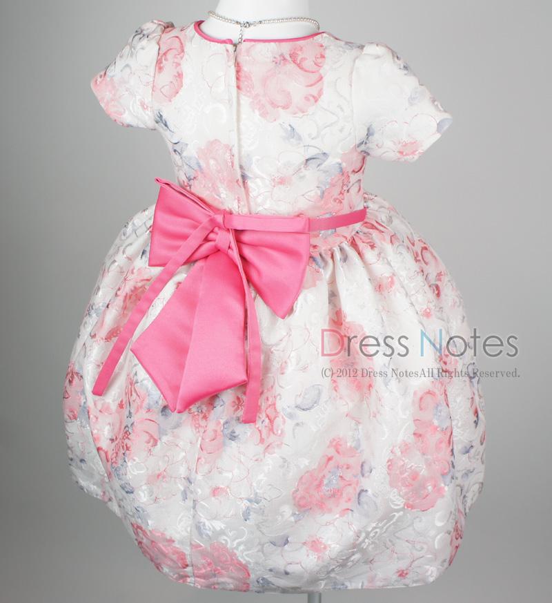 子供ドレス「ヘミング」ピンク H8007-4