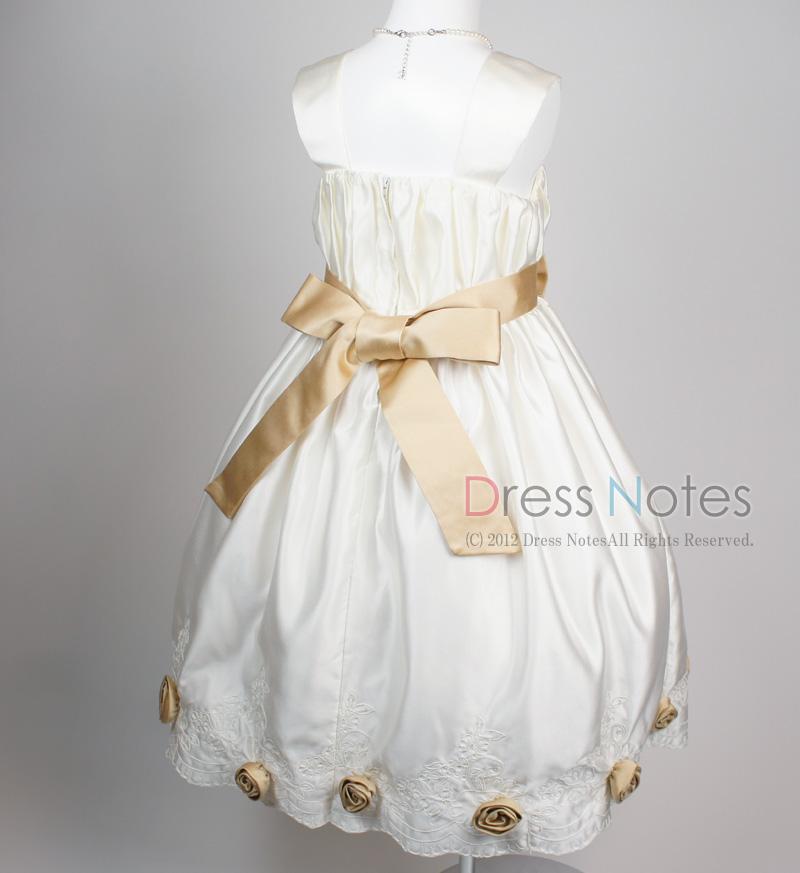 子供ドレス「コーラス」クリーム H8010-4
