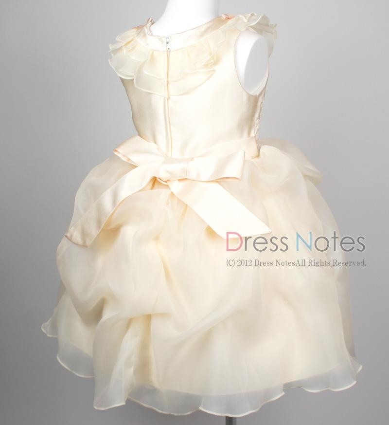 子供ドレス「アルコ・ミディアム」アイボリー G8006-4