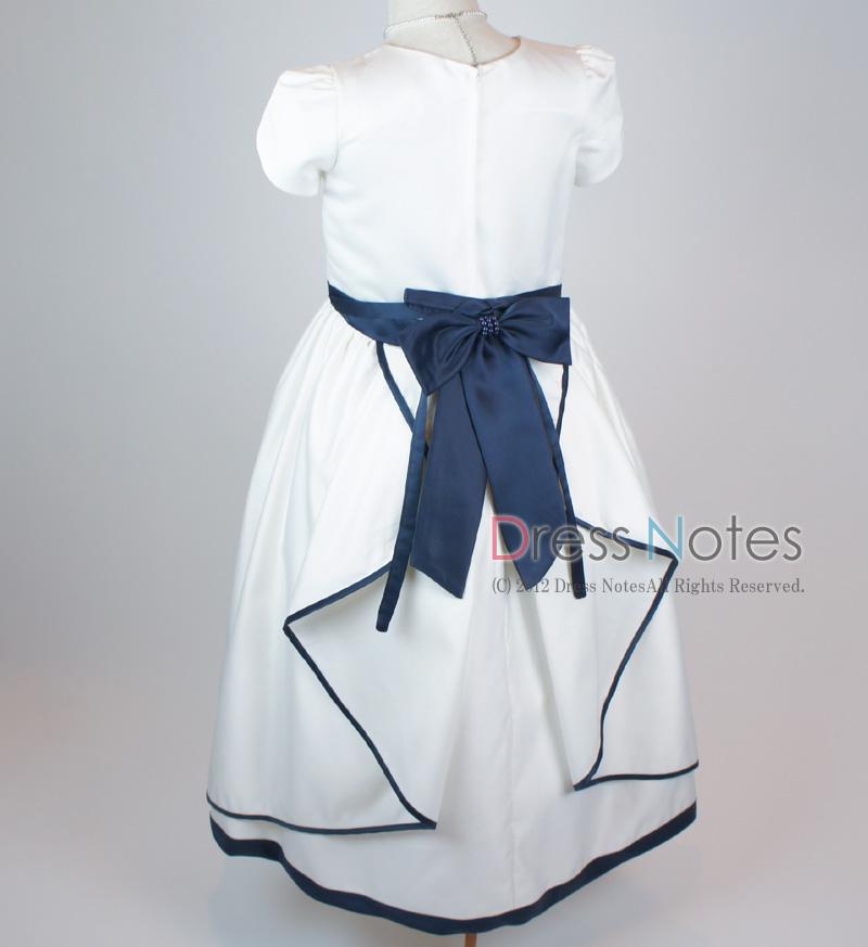 子供ドレス「ソナタ」ネイビーD8025 -4