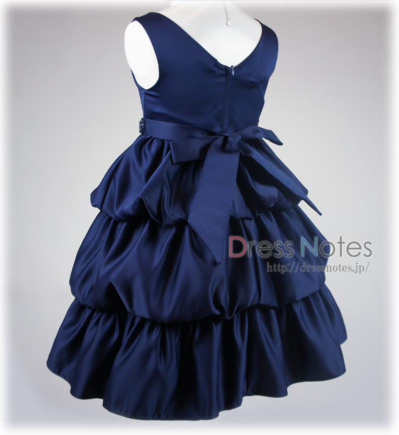子供ドレス「クレッシェンド」ネイビー F8008-5