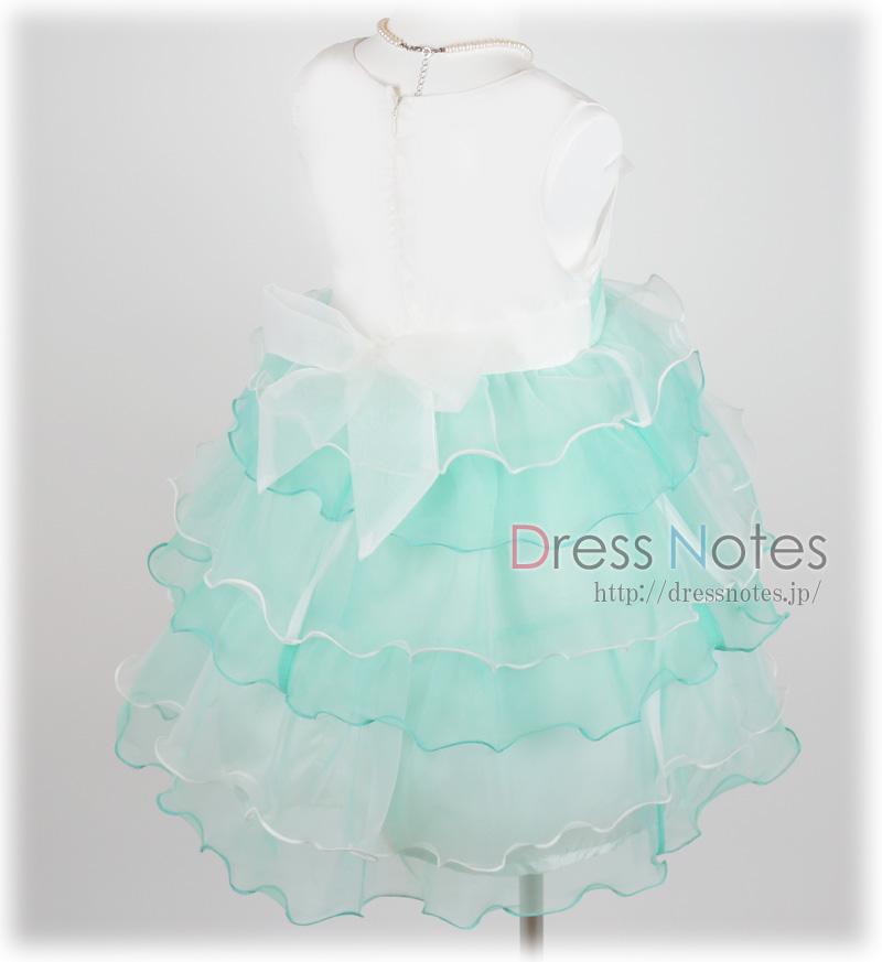 子供ドレス「スラー」ミントグリーン F8010-3
