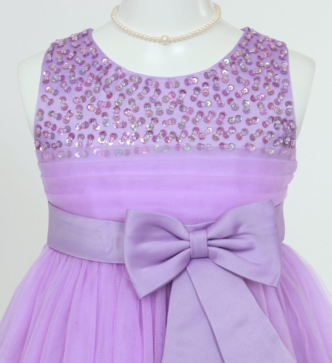 子供ドレス「エチュード」パープル P2003-2