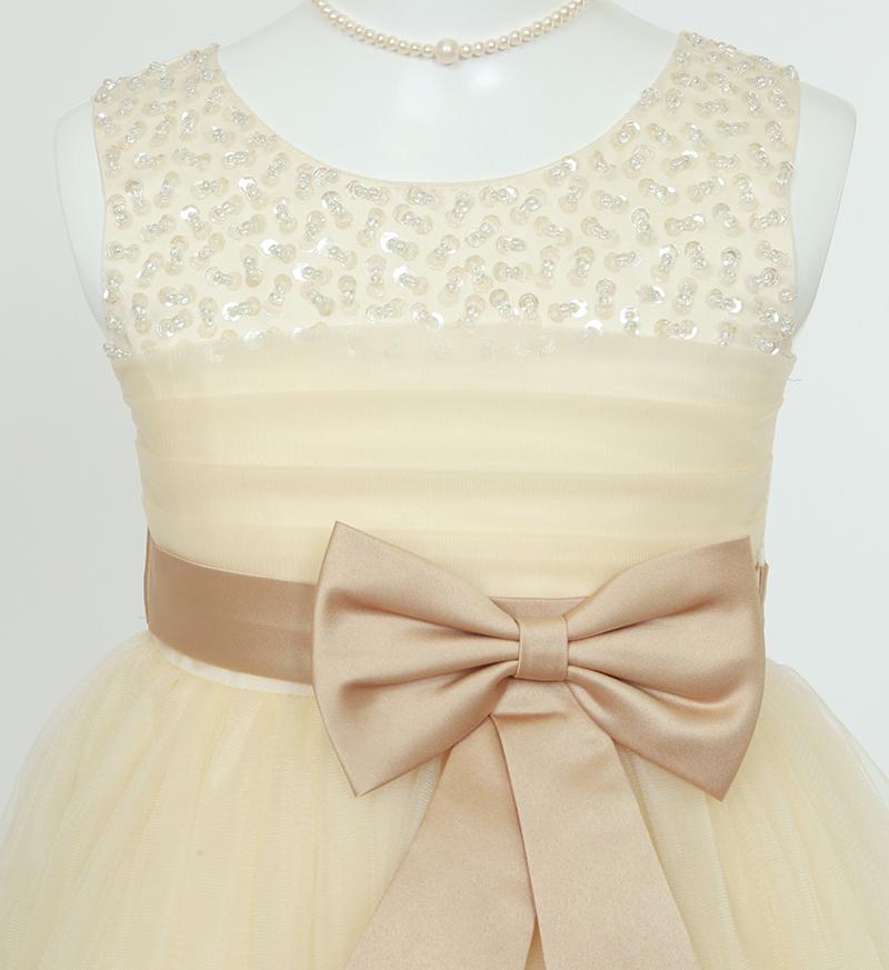 子供ドレス「エチュード」シャンパンゴールド P2005-2