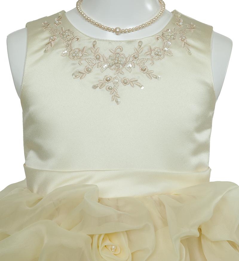 子供ドレス「ヴィエリア」ライトイエロー-2