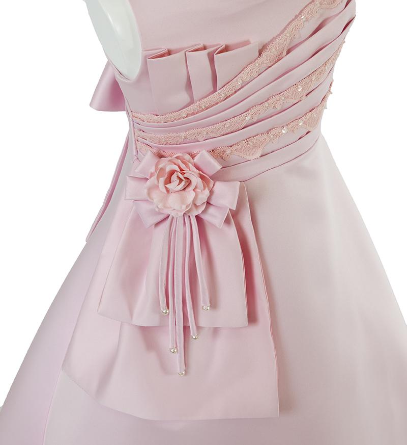 子供ドレス「ノクターン」ピンク-2