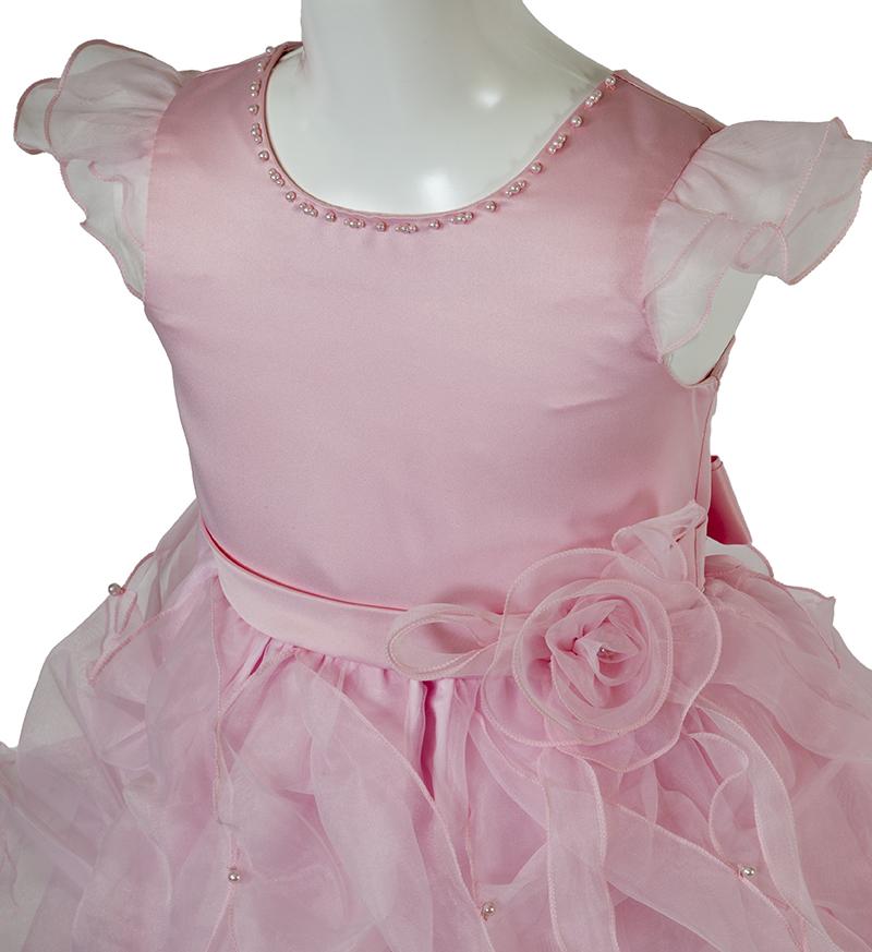 子供ドレス「サイア」ピンク-1