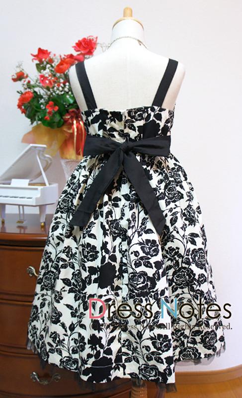 子供ドレス「ブラックバカラ」 A8007-2