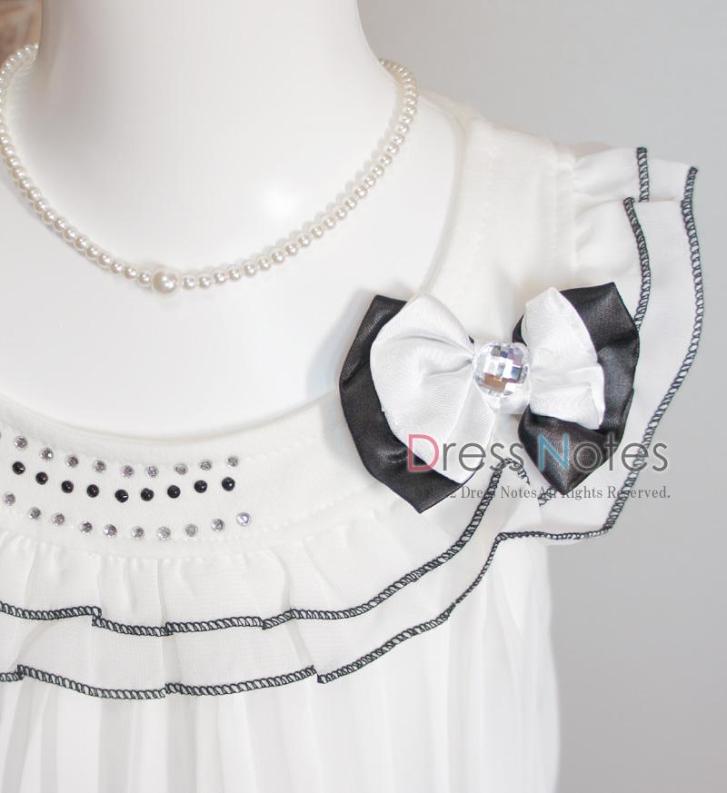 子供ドレス「サーシャ」ホワイト A8001-2
