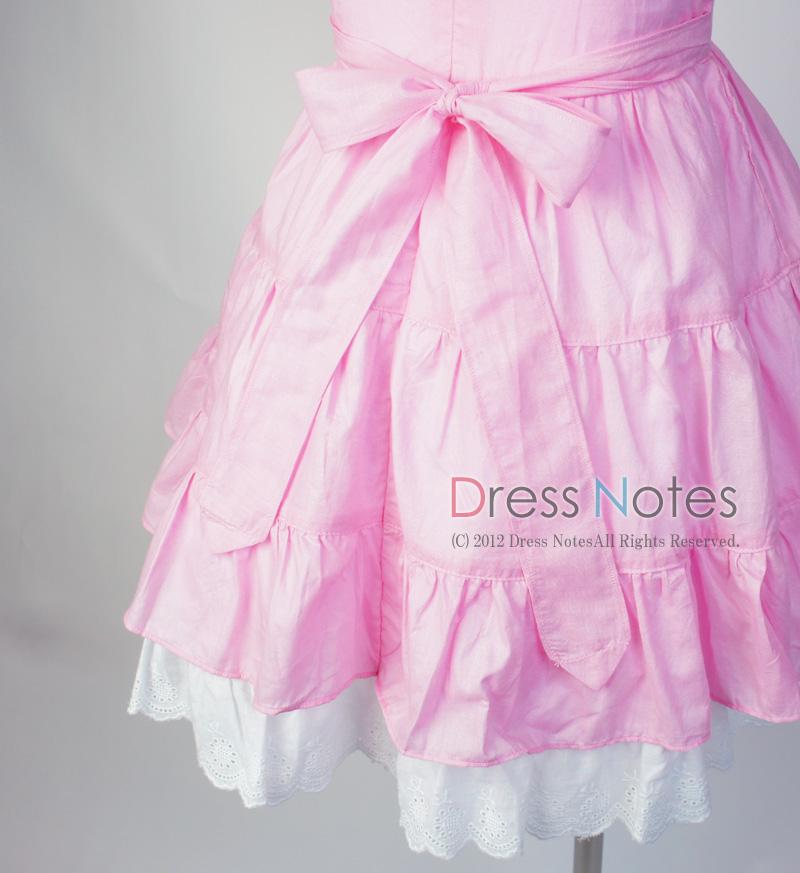 コットン子供ドレス「いちごみるくモア」 ピンク B1020-2