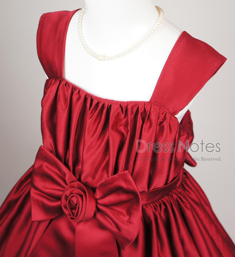 子供ドレス「コーラス」ワインレッド H8011-1