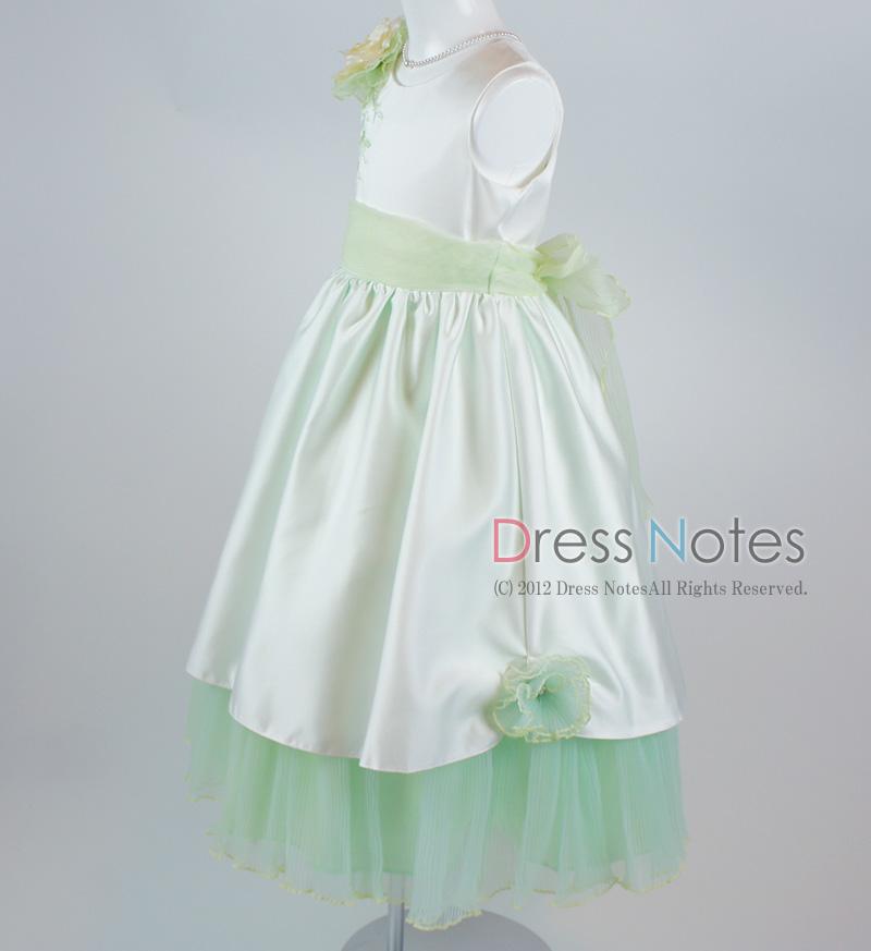 子供ドレス「ロンド」グリーン D8002-2