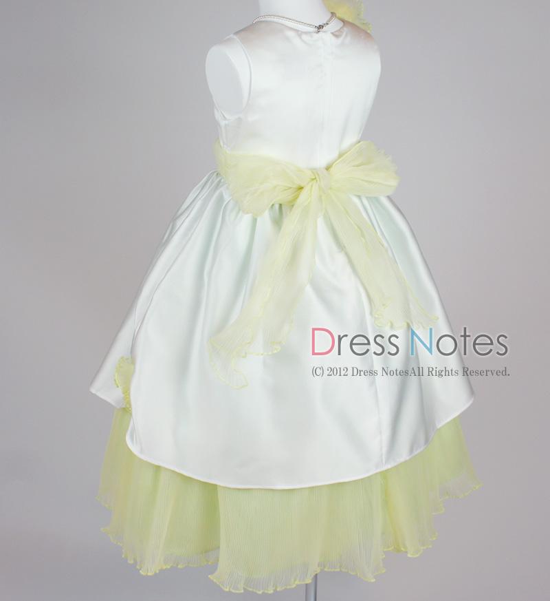 子供ドレス「ロンド」イエロー D8003-5