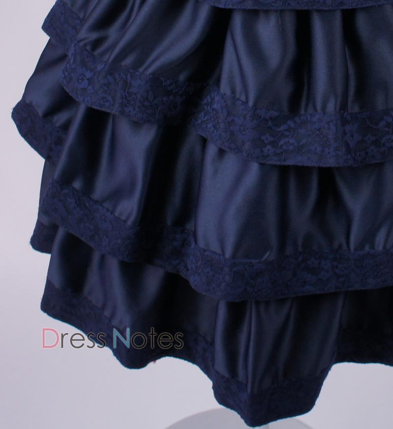 子供ドレス「バラード」ネイビー D8018-3