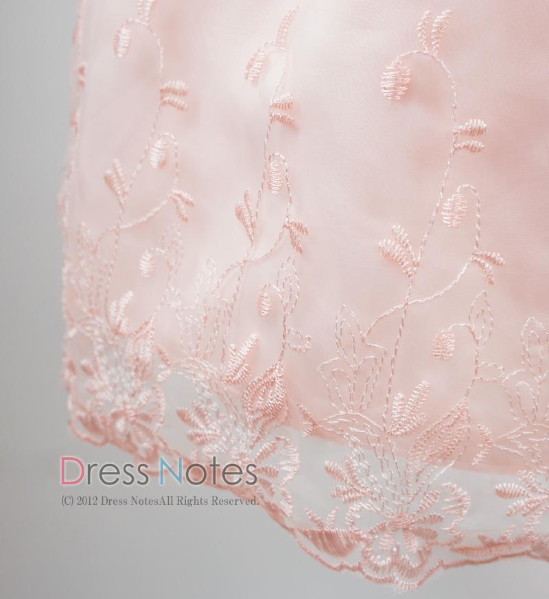 子供ドレス「カノン」ピーチ D8013-3