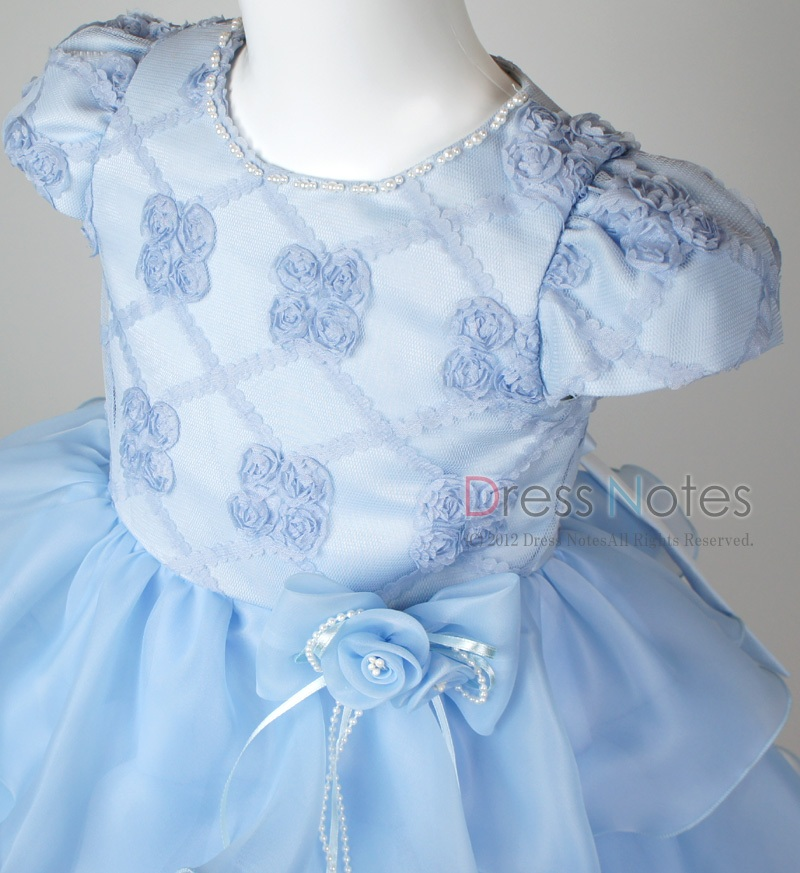 子供ドレス「フォーレ」ブルー H8005-1