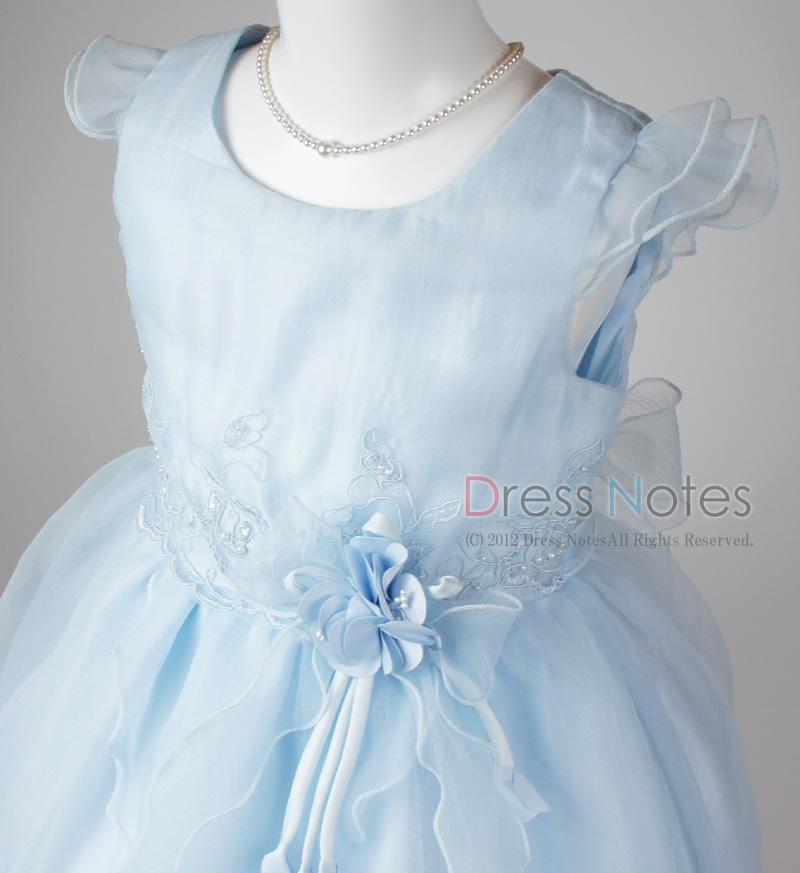 子供ドレス「スカルラッティ」ブルー G8001-1