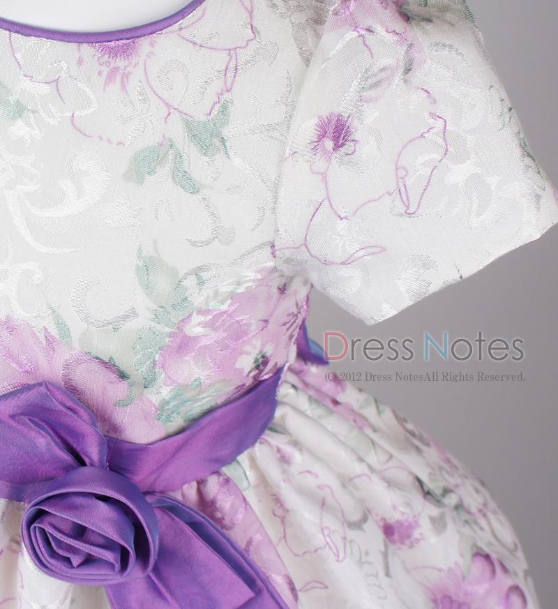 子供ドレス「ヘミング」パープル H8006-1